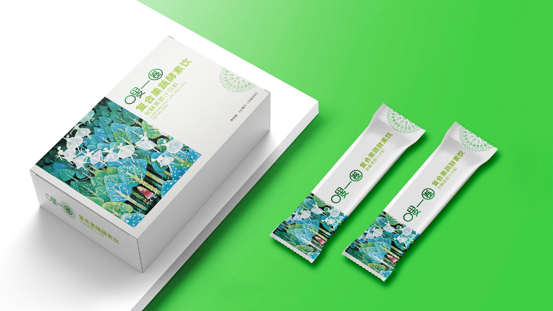 嗖一圈果蔬酵素产品包装设计 套装礼盒包装