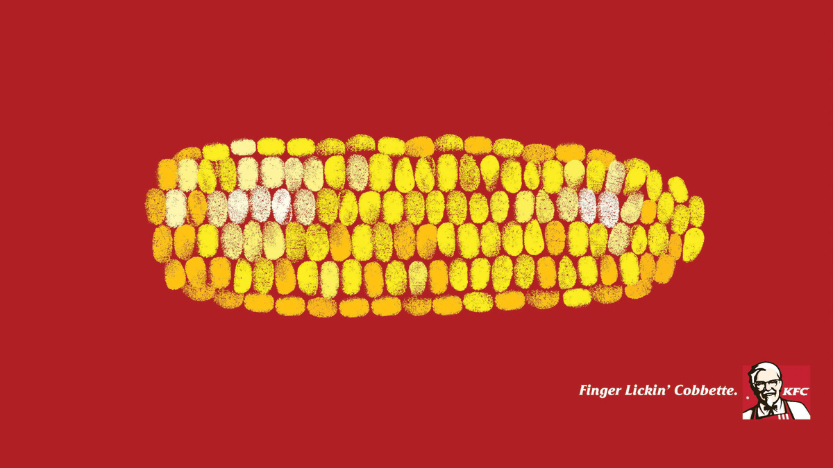 创意广告设计 肯德基创意海报 玉米创意广告