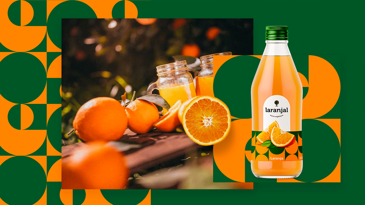 饮品包装设计,橙汁包装设计