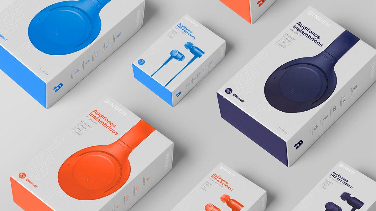 耳机包装设计,纸盒包装设计
